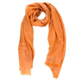 Salvatore Ferragamo Orange Silk blend Scarf