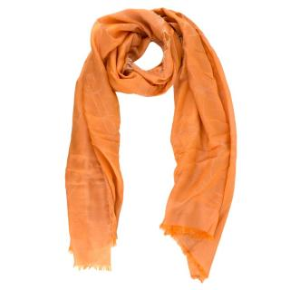 Salvatore Ferragamo Orange Silk blend Scarf