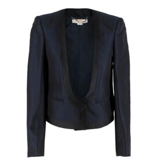 Stella McCartney Navy Wool blend Crop Blazer