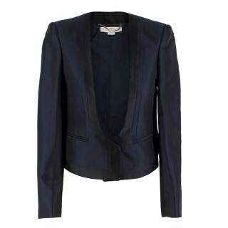 Stella McCartney Navy Wool blend Crop Blazer