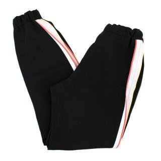 Fendi Black Jogger Trousers with Contrasting Stripes