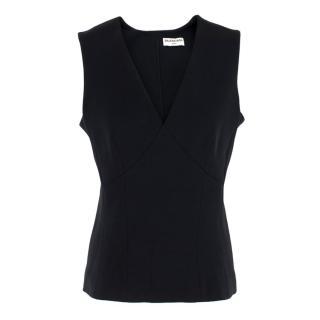 Balenciaga Black Silk Sleeveless Top