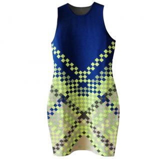 Alexander Wang checked body con dress