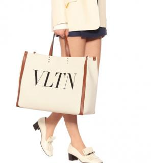 Valentino Garavani VLTN leather-trimmed tote