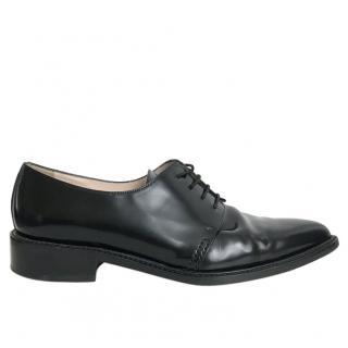Barney's New York ladies black leather brogues
