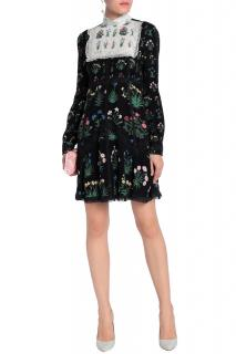 Valentino long sleeved floral mini dress by Celia Birtwell