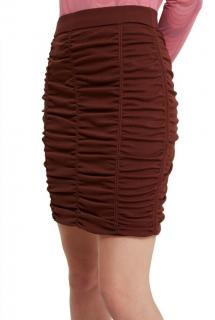 Opening Ceremony maroon ruched pencil skirt