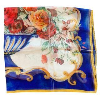 Dolce & Gabbana sicily floral silk scarf