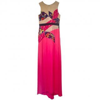BCBG Max Azria multi coloured maxi dress