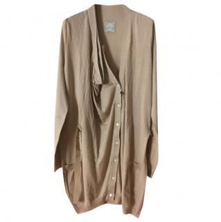 Aquilano Rimondi beige cotton silk cardigan