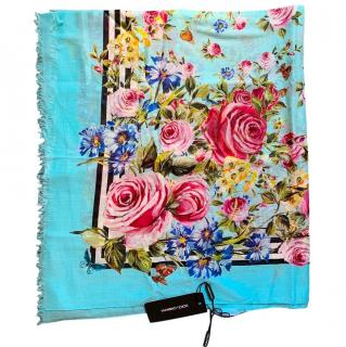 Dolce & Gabbana Roses and Butterflies printed wrap/scarf/sarong