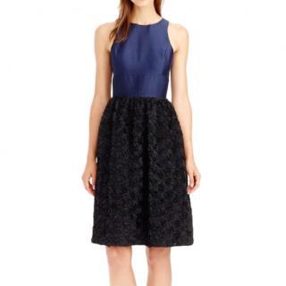 J Crew navy blue Rosette Dress