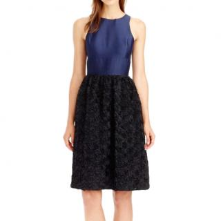 J Crew navy blue Rosette Dress