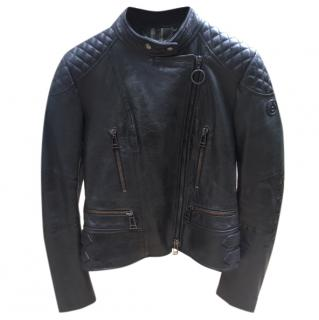 Bel staff black leather Sidney Jacket