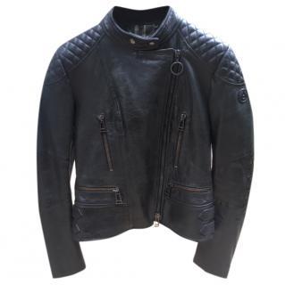 Bel staff black leather Sidney Jacket