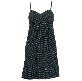 Zimmermann navy and white polka dot cotton voile dress