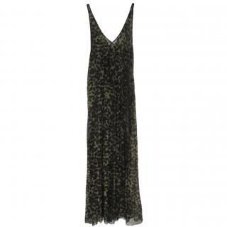Isabel Marant Etoile sheer leopard print maxi slip dress