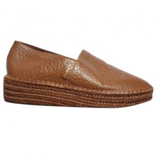Australia Luxe tan leather espadrilles