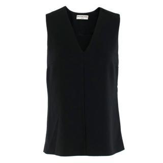 Balenciaga Paris Black Sleeveless Top