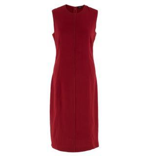 Joseph Red Shift Midi Dress
