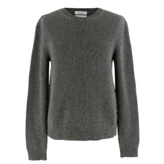 Valentino Cashmere Grey Rockstud Knit Sweater