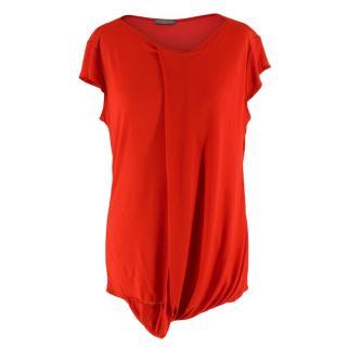 Alexander McQueen Red Sleeveless Top