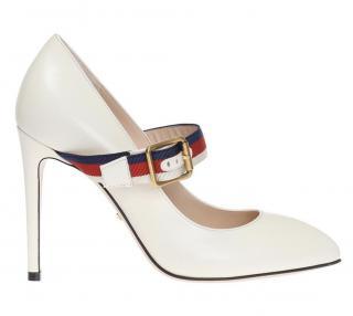 Gucci 'Sylvie' pumps with signature colour ankle strap