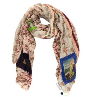 Pierre-Louis Mascia Portraits and Floral Patterned Scarf