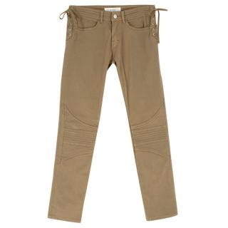 Vanessa Bruno Athe Tan Side Tie-up Detailed Trousers with Side