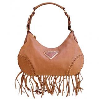 Prada western/festival/ fringed hobo bag