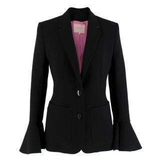 Roksanda Riva frilled-cuff crepe blazer