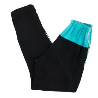 3.1 Phillip Lim Black and Teal Trousers