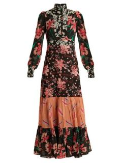 Gucci showstopper long sleeved floral dress