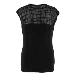 Gianni Versace Black Knitted Sleeveless Top