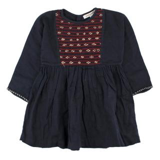 Caramel Girls 18M Cotton Navy Dress
