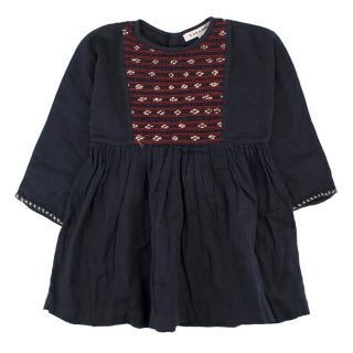 Caramel Girls 18M Cotton Navy Dress