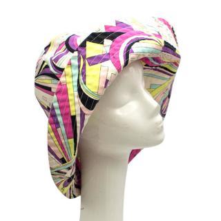 Emilio Pucci Cotton Print Floppy Sun Hat