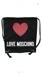 Moschino black plastic back pack