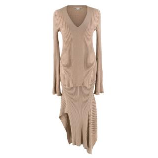 Stella McCartney Brown Knit Set - Long sleeve Top & Skirt