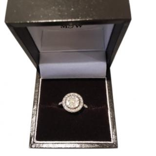 Mappin and Webb gold dappled diamond white gold ring