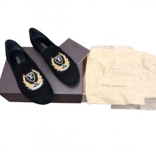 Louis Vuitton Embroidered Velvet Loafers