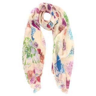 Christian Lacroix Silk Floral Shawl