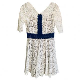 The Kooples White & Black Lace Dress