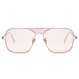 Rejina Pyo rose gold titanium and copper metal pink framed sunglasses