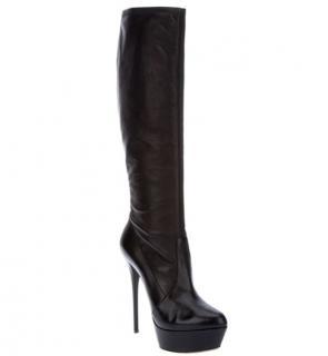 Casadei Knee High Platform Boots in Black