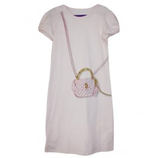 Gucci Girl's 10yrs Bamboo Bag Pink Dress