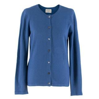 Caroline Charles Blue Cashmere blend Knit Cardigan