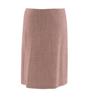 Moschino High-Waisted Pink Wool Tweed Skirt