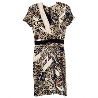 Preen abstract leopard print dress