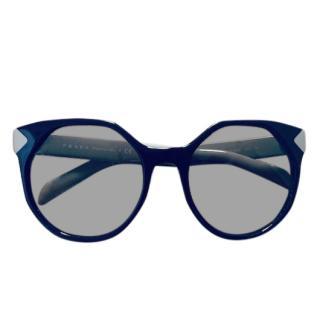 Prada black and grey cat eye sunglasses
